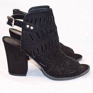 Christian Siriano Faux Suede Black Booties